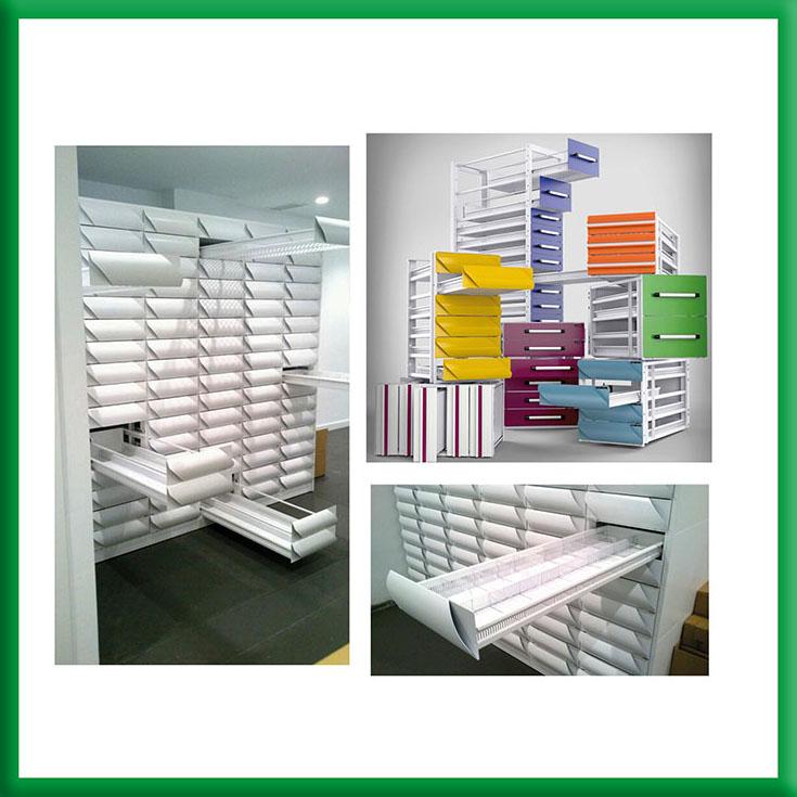 Cajoneras y mobiliario para farmacia