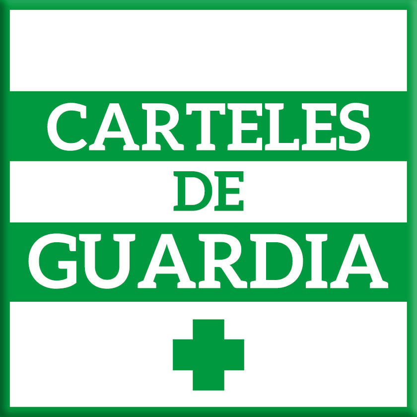 Letreros de guardia farmacia y negocios I+farma
