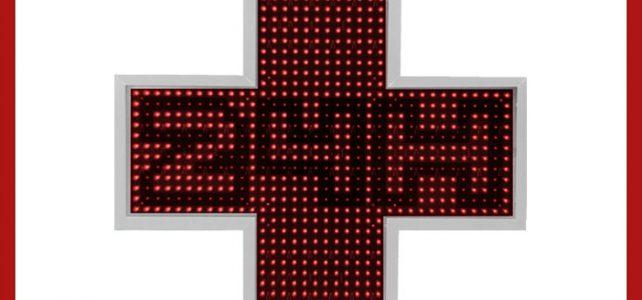 Cruz LED Latina 85 Centro Salud I+Farma